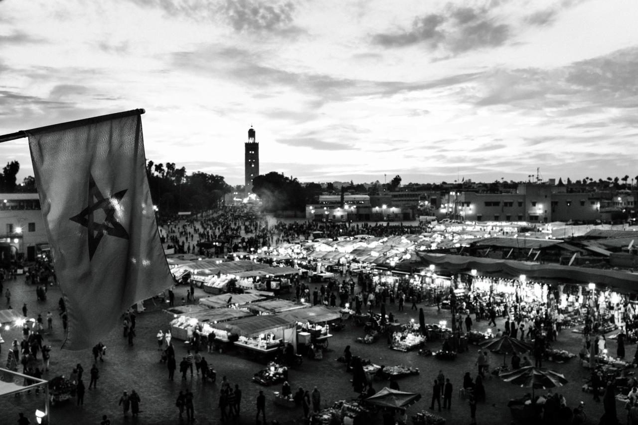 Marrakech - Piazza djemaa el Fna al tramonto