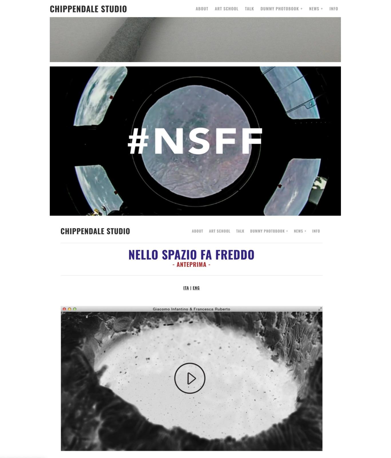 2020 – Nello spazio fa freddo - Collective exhibitions at Chippendale Studio during the Archivi Aperti and Walk-in Studio, Milano - IT